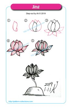 70 Ideas For Drawing Ideas Step By Step Trees Tangle Patterns Zentangle Drawings, Doodles Zentangles, Doodle Drawings, Doodle Art, Zen Doodle Patterns, Zentangle Patterns, Tangle Doodle, Tangle Art, Easy Flower Drawings