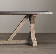 Trestle Style Dining Table   Foter