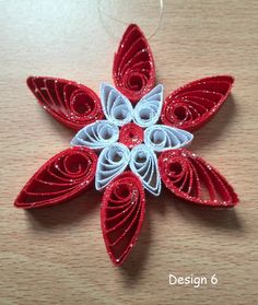 Christmas Snowflake Ornament Decoration Handmade in by Debbie Brannen.