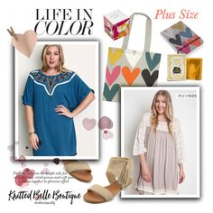 """""""Plus size and life in color"""" by knittedbelleboutique ❤ liked on Polyvore featuring Caroline Gardner, Umgee, Three Sisters Apothecary, women's clothing, women's fashion, women, female, woman, misses and juniors"""