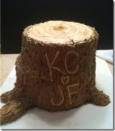 Tree stump wedding cake: Groom's Cake would be prefect for Matt!