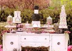 Springtime in Paris party dessert table with decorated cakes and a macaron tower! Paris In Spring, Springtime In Paris, Girls Birthday Party Themes, Girl Birthday, Birthday Ideas, Paris Birthday, Happy Birthday, Paris Theme Decor, Paris Themed Cakes