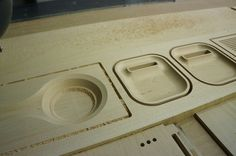 iphone dock and speaker front pannel - CNC finish