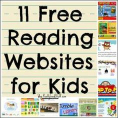 FREE reading websites for kids! Perfect for Daily Pinning so I don't forget to try all of these literacy sites school year. My reluctant readers will love these. Free teaching websites are the best! websites for kids 11 Free Reading Websites for Kids Reading Websites For Kids, Reading Resources, Reading Strategies, Reading Activities, Kids Reading, Free Reading, Reading Sites, Kids Websites, Educational Websites For Kids