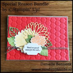 Special Reason stamp set - Stylish Stems Dies - Hexagons Dynamic Embossing folder - Linen thread by Stampin' Up!