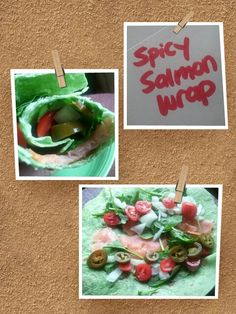 Confessions of a Wrap-A-Holic: FIT Food: Spicy Salmon Wrap (Recipe)