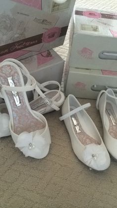 ccb652138 Flower girl shoes from occasion footwear. Girls love them and look  expensive but really not!