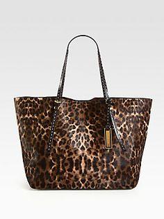 Michael Kors Haircalf Tote..... All Leopard Everything. Stylish  HandbagsHandbags On SaleDiscount ...