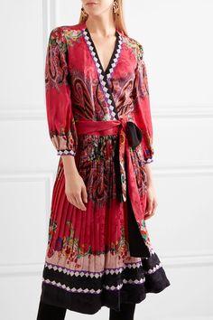 Etro - Printed Jacquard Wrap Dress - Pink - IT42