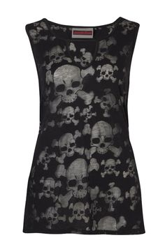 Skull Burnout Tunic Top