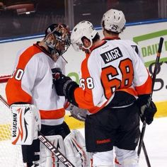 Jagr and Bryz -Flyers 2011-2012 (Loved him as a Flyer!)