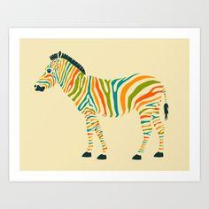 Zebra+Art+Print+by+Jazzberry+Blue+-+$19.00