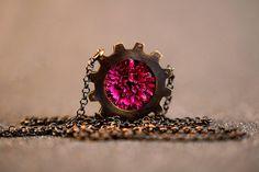 Oxidized Necklace Unique polymer Handmade Pendant by iamGitelman
