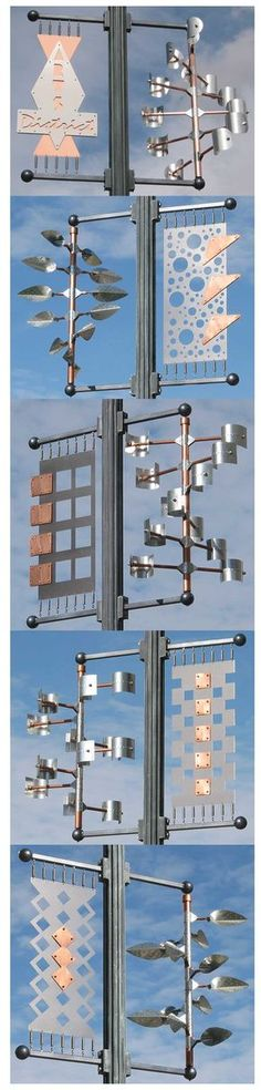 David Boyer, wind art in Reno, Nevada. 63 art pieces on the street light poles.