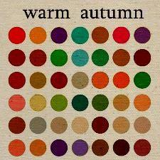 Warm autumn clothing color palette