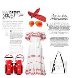 """""""holiday 2"""" by megakus on Polyvore featuring Lisa Marie Fernandez, Ray-Ban, Milly and Yves Saint Laurent"""