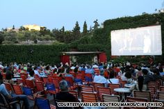 Movie theaters: 10 of the world's best  1. Cine Thisio, Athens, Greece  Movie magic as close to Mount Olympus as possible.    Athens is home to multiple outdoor movie theaters that crop up during the summer but none provide as majestic a view as Cine Thisio.    From your seat at Cine Thisio you not only get to view the latest blockbuster but also the Acropolis, and the Parthenon that sits on top. The best view is at night.