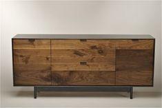 Beautiful walnut + steel furniture by Tod Von Mertens