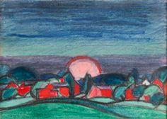 Oscar Bluemner (1867 - 1938) - Moon and Earth