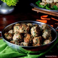 Curried Spinach Turkey Meatballs   super easy and very versatile   LC GF DF Paleo   http://momcanihavethat.com