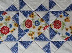 Retro Pinwheel Quilted Table Runner Bright by ForgetMeNotQuilteds, $50.00
