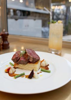 Roasted Welsh lamb rump, potatoes dauphinoise, glazed vegetables with thyme jus. On our Valentines menu Potatoes Dauphinoise, Glazed Vegetables, Welsh, Wine Recipes, Dining Area, Food Inspiration, Lamb, Steak, Roast