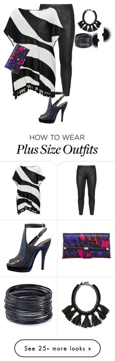 """plus size poncho style1 night out"" by kristie-payne on Polyvore featuring Doris Streich, Gucci, Mat, Cocoa, ABS by Allen Schwartz, Lulu Frost and Diane Von Furstenberg"