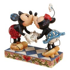 Amazon.com: Disney Traditions by Jim Shore Mickey Mouse and Minnie Mouse Kissing Stone Resin Figurine: Home & Kitchen