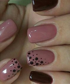 Fabulous Pink and Blood Red Dotted Nail Art Designs .- Fabulous pink and blood red dotted nail art designs nail art - Creative Nail Designs, Creative Nails, Nail Art Designs, Nails Design, Fingernail Designs, Solar Nail Designs, Simple Nail Designs, Nailart, Nagel Blog
