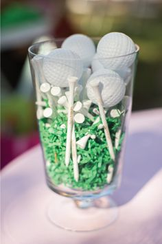 Custom golf tee decorations at a #golf #birthday #party