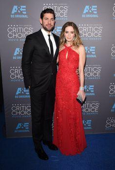 Pin for Later: Die Stars feiern weiter bei den Critics' Choice Movie Awards! John Krasinski und Emily Blunt