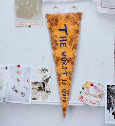 {the worst is over} pennant flag by shopfeverfew