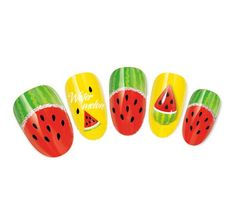 NiceDeco - nail stickers nail tattoo nail deacl water transfers decals juicy fruit watermelon & silver glittter Nicedeco http://www.amazon.com/dp/B00GTO0DZS/ref=cm_sw_r_pi_dp_R7sQvb1538XR4