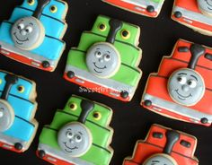 Thomas the Train cookie favors