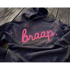 Charcoal Grey and Pink Braap Hoodie