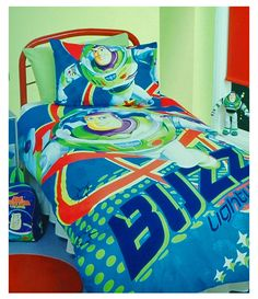 Buzz Lightyear Bedding - Toy Story Bedding  sc 1 st  Pinterest & Buzz and Woody Bedding Set. Toy Story bedding with Buzz Lightyear ...