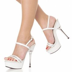 8aad8cd9e1e 5 inch Crystal Platform Sandal with Rhinestone Straps clear shoes lady  fashion high heels sexy clubbing Dance Shoes silver
