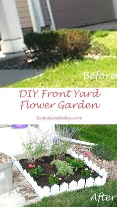 June 24, 2013 – Day 82   Here is my yard after being weeded with a simple bush at the front of the porch.  Of course, being a fan of color, I needed a flower garden.  Plus, the bush was dying so, I pulled out my tools and got to work. Here's how I did …