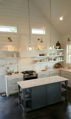 shiplap walls in the kitchen #garageredesign