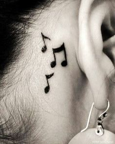 Cute little 'eighth notes' tattoo!!