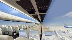 Questo è l'aereo del futuro: tra 10 anni poltrone con vista ed emissioni ridotte #aereo #cielo #viaggi