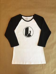 Bonfire Junkie surfer baseball tee - white / black, 3/4 sleeves