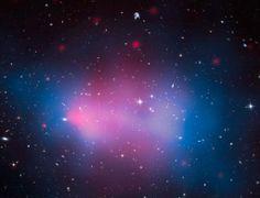 Mapa tłustej gromady galaktyk: #kosmos #nasa #hubble #astronomia