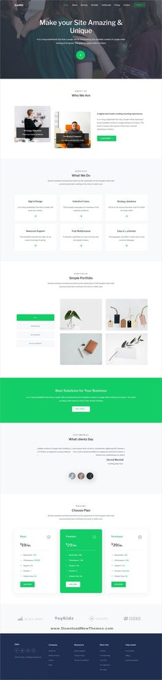 Zairo is a clean and modern design 6in1 responsive bootstrap #HTML #theme for creative #agency landing page website to download & live preview click on image or Visit 🡽 #webdevelopment Layout Design, Web Design, Html Templates, Layout Inspiration, Business Website, Web Development, Landing, Modern Design, Live