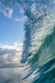 Nimbus | A shore break wave at Keiki's beach on the North Shore of Oahu during a winter swell.