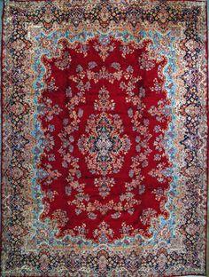 """Kerman Persian Rug, Buy Handmade Kerman Persian Rug 11' 6"""" x 15' 2"""", Authentic Persian Rug $5,280.00"""