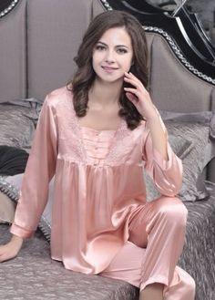 Ladies pajamas made of silk 1036