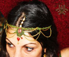 Ishtar mystical tiara, handmade with different positions. Different Colors. Perfect for dances and shows.
