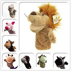 Genérico Marionetas De Mano Animales Juguete Afelpado Terciopelo Control Manual León