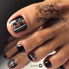 Foxy Toe Nail Arts to Copy - Ani Exclusive Toenail Art Designs, Pedicure Designs, Pedicure Nail Art, Toe Nail Designs, Nail Polish Designs, Gel Polish, Pretty Toes, Pretty Nails, Feet Nails